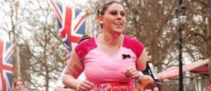 Kirsty running during the marathon