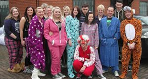 Kennet Leasing staff dress up for red nose day