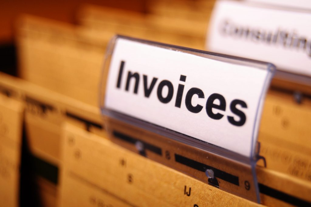 FIling cabinet invoices separator