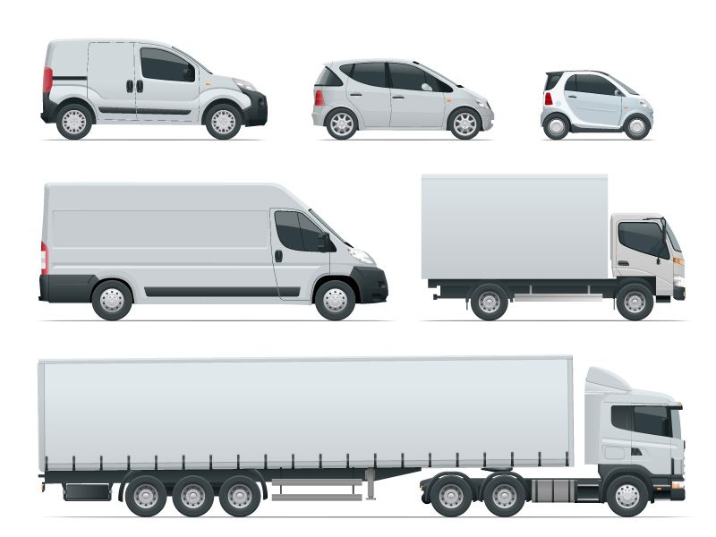 Examples of different vehicles that can be financed.