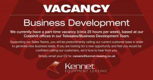 Business Development Vacancy   Kennet Leasing